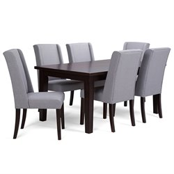 7 Piece Dining Set in Dove Gray