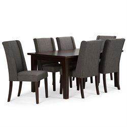 7 Piece Dining Set in Slate Gray