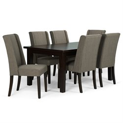 7 Piece Dining Set in Light Mocha