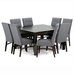 9 Piece Square Dining Set in Slate Gray