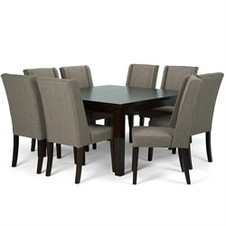 9 Piece Square Dining Set in Light Mocha