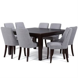 9 Piece Square Dining Set in Gray