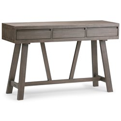 Simpli Home Dylan Hallway Console Table in Driftwood