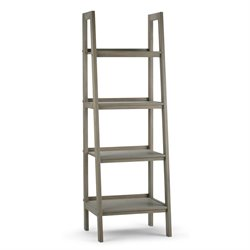 Simpli Home Sawhorse 4 Shelf Ladder Bookcase