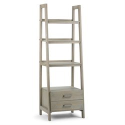 Simpli Home Sawhorse 4 Shelf Ladder Bookcase 1