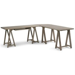 Simpli Home Sawhorse L-Shaped Home Office Desk