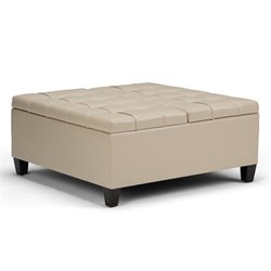 Simpli Home Harrison Storage Coffee Table Ottoman-SH11