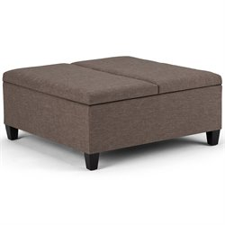 Simpli Home Ellis Storage Coffee Table Ottoman-SH13
