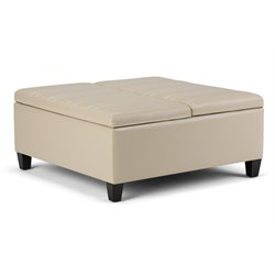 Simpli Home Ellis Storage Coffee Table Ottoman-SH12