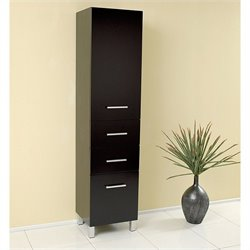 Fresca Bathroom Linen Side Cabinet with Pull Out Drawers in Espresso