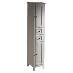 Fresca Oxford Tall Bathroom Linen Cabinet in Antique White