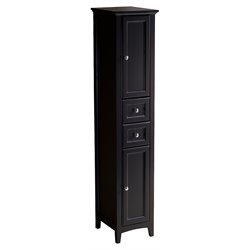 Fresca Oxford Tall Bathroom Linen Cabinet in Espresso