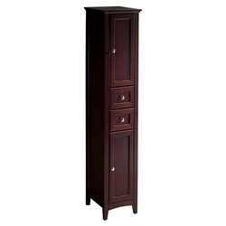 Fresca Oxford Tall Bathroom Linen Cabinet in Mahogany