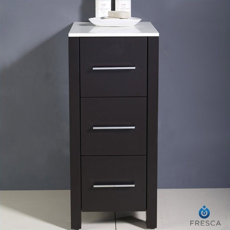 bathroom linen side cabinet fresca torino bathroom linen side cabinet in espresso 11538