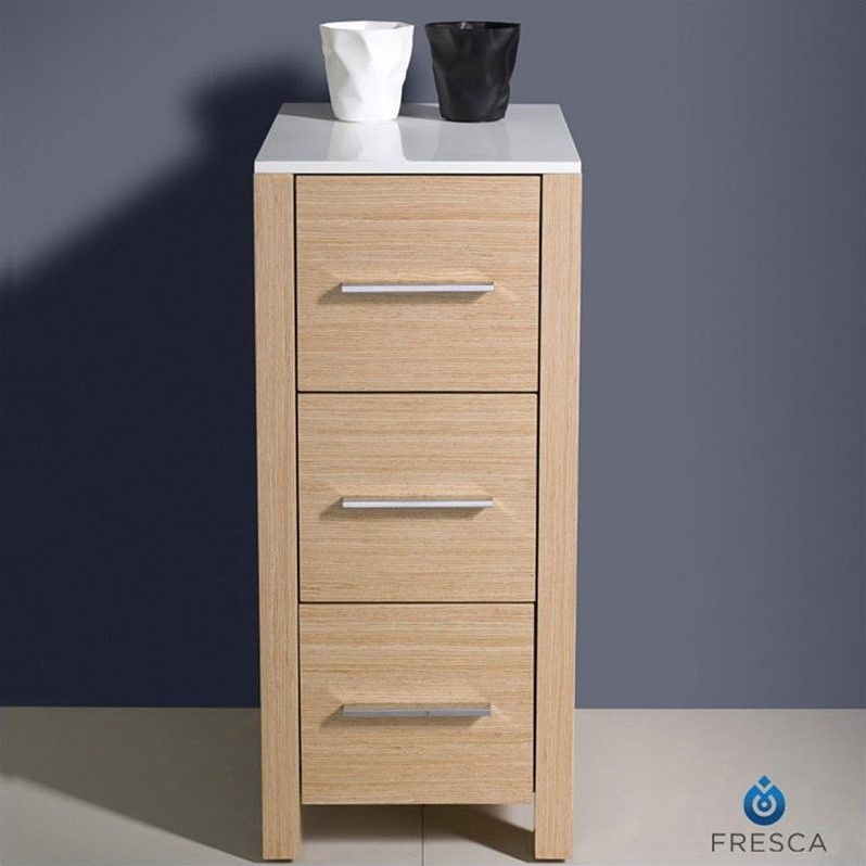 bathroom linen side cabinet fresca torino bathroom linen side cabinet in light oak 11538