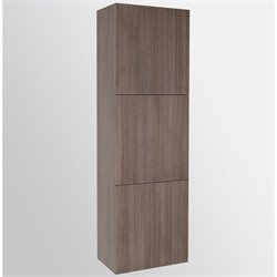 Fresca Senza Bathroom Linen Side Cabinet with Large Storage Areas in Gray Oak