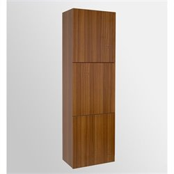 Fresca Senza Bathroom Linen Side Cabinet with Large Storage Areas in Teak