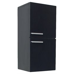 Fresca Senza Bathroom Linen Side Cabinet Storage Areas in Black