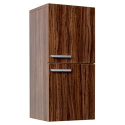Fresca Senza Bathroom Linen Side Cabinet with Storage Areas in Walnut