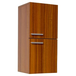 Fresca Senza Bathroom Linen Side Cabinet with Storage Areas in Teak