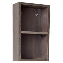 Fresca Senza Bathroom Linen Side Cabinet with Open Storage Areas in Gray Oak