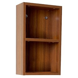 Fresca Senza Bathroom Linen Side Cabinet with Open Storage Areas in Teak