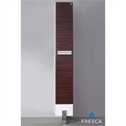 Fresca Trieste Adour Bathroom Linen Side Cabinet in Dark Walnut