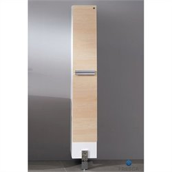 Fresca Trieste Adour Bathroom Linen Side Cabinet in Light Walnut