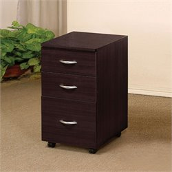 ACME Furniture Marlow 3 Drawer File Cabinet in Espresso
