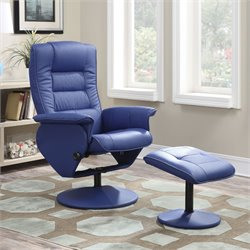 Acme Arche 2 Piece Pack Recliner Chair and Ottoman