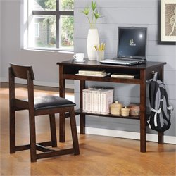 ACME Furniture Vester 2 Piece Office Set in Black and Espresso