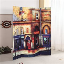 ACME Furniture Trudy 4-Panel Wooden Screen in Scenery