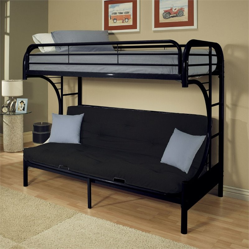 ACME Furniture Eclipse Twin XL over Queen and Futon Bunk