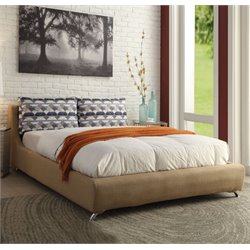 ACME Furniture Lightriver Linen Queen Bed in Light Brown