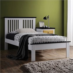 Brooklet Bed in White & Black