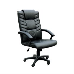 ACME Furniture Chesterfield Bonded Leather Pneumatic Lift Office Chair