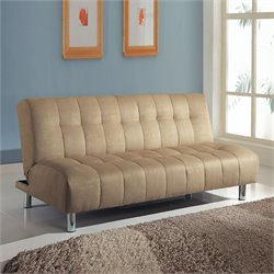 ACME Furniture Sylvia Microfiber Futon in Beige