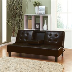 ACME Furniture Barron Futon with Drop Back and Cup Holders in Espresso