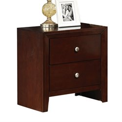 ACME Furniture Ilana Nightstand in Brown Cherry