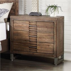 ACME Furniture Andria Nightstand in Reclaimed Oak