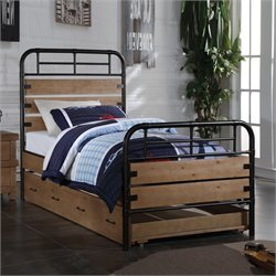 ACME Furniture Adams Twin Bed in Antique Oak