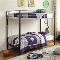 ACME Furniture Mirella Twin over Twin Bunk Bed in Silver