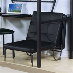 ACME Furniture Senon Futon Chair in Silver and Black