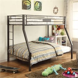 ACME Furniture Limbra Twin over Full Bunk Bed in Brown