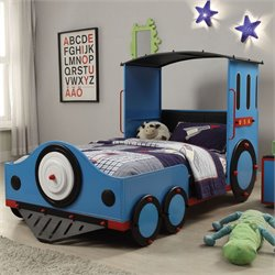 ACME Furniture Tobi Train Twin Bed in Blue and Red and Black