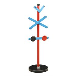 ACME Furniture Tobi Train Coat Rack in Blue and Red and Black