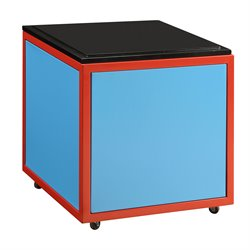 ACME Furniture Tobi Train Convertible Storage Ottoman in Blue