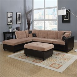 Acme Milano Reversible Easy Rider Sectional Sofa