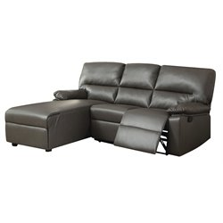 Acme Artha Bonded Leather Match Motion Sectional Sofa