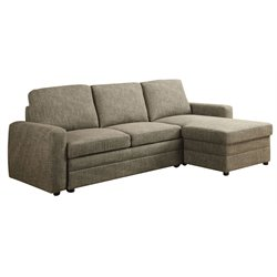 ACME Furniture Derwyn Linen Sectional in Light Brown